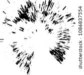 radial concentric particles... | Shutterstock .eps vector #1086837554
