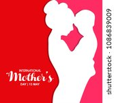 happy mother's day with...   Shutterstock .eps vector #1086839009