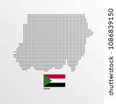 sudan map design with flag and... | Shutterstock .eps vector #1086839150