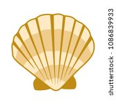 gold seashell vector graphics ... | Shutterstock .eps vector #1086839933