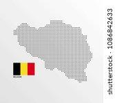 belgium map design with flag... | Shutterstock .eps vector #1086842633