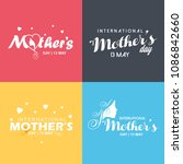 happy mother's day card with... | Shutterstock .eps vector #1086842660