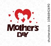 happy mother's day card with... | Shutterstock .eps vector #1086842690