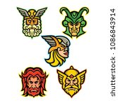 Mascot Icon Illustration Set O...