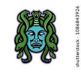 mascot icon illustration of... | Shutterstock .eps vector #1086843926