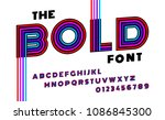 stylized striped bold italic... | Shutterstock .eps vector #1086845300