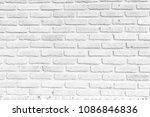 white brick wall texture...   Shutterstock . vector #1086846836