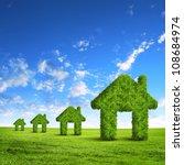 green grass  house symbol... | Shutterstock . vector #108684974