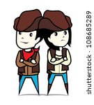 cowboy and cowgirl | Shutterstock .eps vector #108685289
