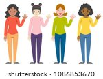 illustration of woman of... | Shutterstock .eps vector #1086853670
