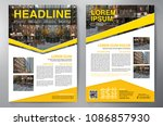 business brochure. flyer design.... | Shutterstock .eps vector #1086857930