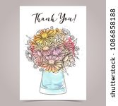 vector greeting card design | Shutterstock .eps vector #1086858188