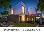 3d rendering of modern cozy... | Shutterstock . vector #1086858776