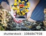 close up of a hands of a woman... | Shutterstock . vector #1086867938