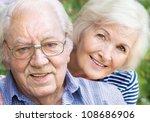 happy couple portrait  closeup | Shutterstock . vector #108686906
