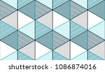 geometric 3d lines abstract... | Shutterstock .eps vector #1086874016