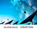 satellite dish transmission data | Shutterstock . vector #108687686