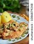 chicken breast with...   Shutterstock . vector #1086879248