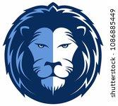 lion face  lion head vector ...   Shutterstock .eps vector #1086885449