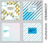 abstract minimal geometric... | Shutterstock .eps vector #1086886019