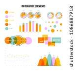 infographic template vector set ... | Shutterstock .eps vector #1086887918