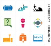 set of 9 simple editable icons... | Shutterstock .eps vector #1086888164