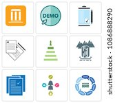 set of 9 simple editable icons... | Shutterstock .eps vector #1086888290