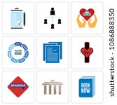 set of 9 simple editable icons...   Shutterstock .eps vector #1086888350