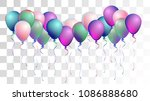 vibrant realistic helium vector ... | Shutterstock .eps vector #1086888680