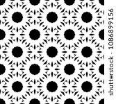 black and white seamless... | Shutterstock . vector #1086899156