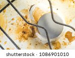 old white dirty gas stove close ... | Shutterstock . vector #1086901010
