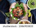 woman hands holding fresh... | Shutterstock . vector #1086903833