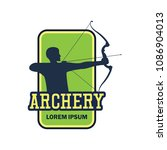 archery logo with text space... | Shutterstock .eps vector #1086904013