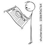 cartoon stick man drawing...   Shutterstock .eps vector #1086906764