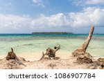 a view from the paradise island ... | Shutterstock . vector #1086907784