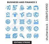 dashed outline icons pack for... | Shutterstock .eps vector #1086914900