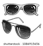 sunglass illustration  drawing  ... | Shutterstock .eps vector #1086915656