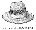 Straw Hat Illustration  Drawin...