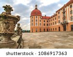 Small photo of DRESDEN, GERMANY - CIRCA AUGUST, 2008: The Palace Moritzburg alias Schloss Moritzburg near Dresden in Germany