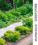 beautiful home garden allotment ... | Shutterstock . vector #1086919388