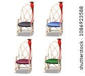 set of wicker wooden chairs... | Shutterstock .eps vector #1086923588