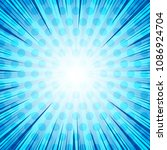 comic book page blue light...   Shutterstock .eps vector #1086924704