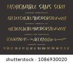 handrawn vector alphabet....   Shutterstock .eps vector #1086930020