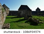 Small photo of Rebuilded medieval romanesque chapel and southern towers of monastery and fortress Bzovik, Krupina region, central Slovakia
