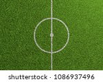 centerline on grass of soccer... | Shutterstock . vector #1086937496