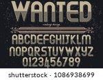 vintage font typeface vector...   Shutterstock .eps vector #1086938699