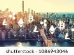 cryptocurrency with the new... | Shutterstock . vector #1086943046