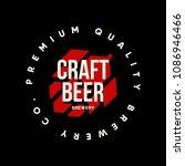 modern craft beer drink vector... | Shutterstock .eps vector #1086946466