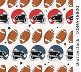 seamless pattern with sports... | Shutterstock .eps vector #1086948800