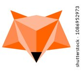abstract low poly fox icon | Shutterstock .eps vector #1086952973